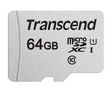 TRANSCEND 300S MICRO SD 64 GB CLASS 10 FLASH MEMORY CARD NEW A