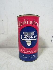 Vintage 1950s Buckingham Carlton Shuttlecocks England NOS Unopened Can
