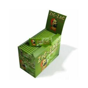 Zig Zag Green Standard Regular Cigarette Rolling Paper - Buy 1 to 100 Booklets