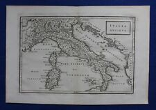 """Original antique map Italie, Sardaigne, Corse, """"Italia antiqua"""", Cellarius 1799"""