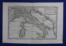 "ORIGINALE ANTICO MAPPA ITALIA, Sardegna, Corsica, ""ITALIA ANTIQUA"", CELLARIO 1799"