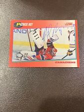 Patrick Roy Score 1991-92 75 Auto Signed Canadiens Hockey Card Fast Shipping