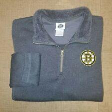 Boston Bruins Official NHL Navy Blue Fleece NWOT 1/4 Zip Pullover Size Medium