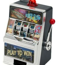 Las Vegas Casino MINI Real Working Slot Machine Money Toy Bank Brand NEW Sealed
