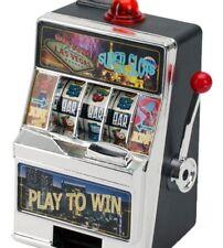 Las Vegas Casino MINI Real Working Slot Machine Money Toy Bank Brand NEW Sealed