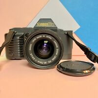 Canon T70 Film Camera SLR with FD 35-70mm 1:3.5-4.5 Lens Film Tested! Working!