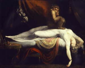 Henry Fuseli The Nightmare Giclee Art Paper Print Paintings Poster Reproduction