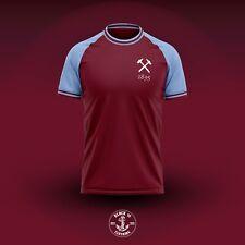 Mens West  Ham Retro Style Football Shirt Irons Medium L Large