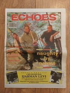ECHOES MAGAZINE 16 NOV 1991 NAUGHTY BY NATURE SL2 MARKY MARK JAMIE PRINCIPLE