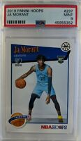 2019-20 Panini NBA Hoops Ja Morant Rookie RC #297, Graded PSA 9 Mint