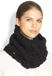 EUGENIA KIM 133750 Women's 'Brooke' Black Wool Knit Cowl Scarf Wrap