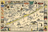 Historical Pictorial Map Abraham Lincoln Memorial Trail Black Hawk War Poster