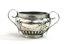 Antique Sterling Silver Salt cellar Twin manipulés ruban & Bow Birmingham 1912