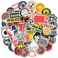 50 Rock Band Stickers Bomb Pack Lot Music Tour Retro 80's Laptop Car Vinyl Decal