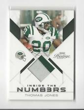 2009 Playoff Prestige Inside the Numbers Thomas Jones PATCH Jets /50