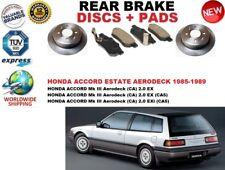 FOR HONDA ACCORD MK III 3 AERODECK ESTATE 85-89 REAR BRAKE DISCS SET + PADS KIT