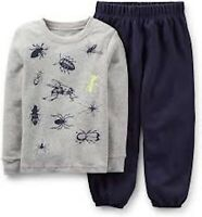 """CARTER'S 2PC BOY'S """"BUGS"""" GREY TEE SHIRT AND NAVY PANTS SIZES: 18M & 24M  NWT"""