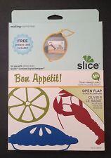Making Memories SLICE Design Card BON APPETIT ~ Food Drink Cooking Frames Tags