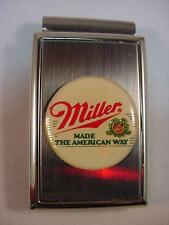 MILLER MADE AMERICAN BEER POLISHED SATIN CHROME MONEY CLIP NEW