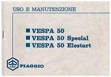 PIAGGIO - vespa 50 spe  - 1971 -  manuale uso e manutenzione – DRIVER'S HANDBOOK