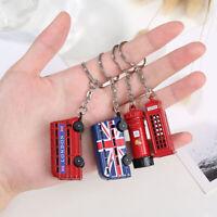 London Red & Blue Bus Key Organizer Key Pendant Keychain Men's Souvenir g