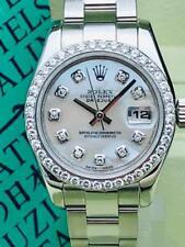 Estate ~ 2006 ROLEX Ladies SS Datejust MOP Diamond Dial & Bezel Watch 179160