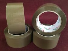 """4 Rolls Brown/Tan Packaging Tape - 2""""x110 Yards(330'Feet) Low Noise packing Tape"""