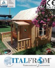 Casette di Legno Otto Casetta da Giardino in Legno per Bimbi 16mm ITALFROMBABY03