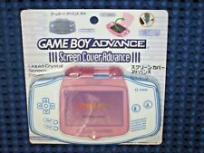 RARE!! Nintendo Game Boy Advance Screen Cover Protector Milky Pink GBA JAPAN F/S