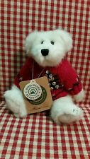 Boyds Lars - 8� White Plush Wearing Sequined Christmas Sweater