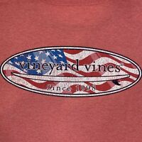 VINEYARD VINES Men's S/S Pocket Tshirt USA Surf Logo Sz XL Jetty Red- NEW TAGS