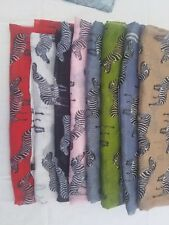 Fancy Ladies' Zebra Print Soft Scarf Animal Large Long Shawl