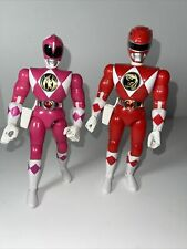 "Vintage 1993 Mighty Morphin Power Rangers RED/PINK RANGER 8"" inch Action Figures"