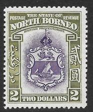 North Borneo 1939 $2 Violet & Olive-Green SG 316 (Mint)