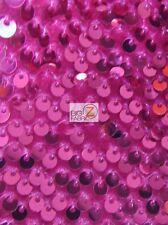RAIN DROP SEQUIN STRETCH VELVET FABRIC - Fuchsia - SOLD BY THE YARD DRESS DECOR