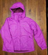 Columbia Sportswear Fuchsia Pink Hooded Jacket / Winter Coat Women's Size XL