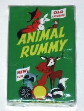 Vintage 1960s Arrco ANIMAL RUMMY Card Game! NEW Sealed Deck in Box! Pla-Mor!