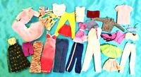 Large Lot of Vintage Barbie and Other Mixed Fashion Doll Clothes Bag S-13