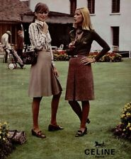 CÉLINE VINTAGE Belted Skirt in Camel size EU36