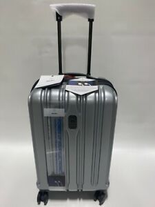"""DELSEY CONNECTECH 21"""" LUGGAGE SPINNER WHEEL EXPANDABLE CARRY ON SILVER USB SMART"""