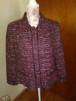 Talbots multicolor tweed elegant  jacket size 12 .Lined / button closure .🌹
