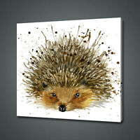 HEDGEHOG CANVAS PICTURE PRINT WALL ART HOME DECOR FREE DELIVERY