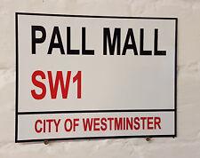 Londra Strada Firmare-Pall Mall-alluminio metallo segno