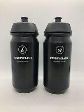 NEW PAIR Lightweight RESERVETANK 500ml Water Bottle Black TACX Shiva Bidon Set