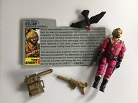 GI JOE~~1988 VOLTAR~~DESTROS GENERAL~~ w FILE CARD