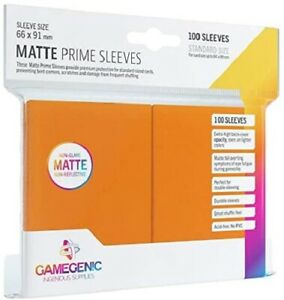 Matte Prime Card Sleeves: Orange Standard GameGenic Asmodee NEW