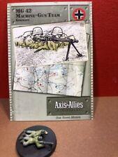 Axis & Allies Early War  #: 42/60 MG42 Machine-gun Team