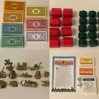 Monopoly Deluxe Board Game REPLACEMENT Pieces Choice Tokens Cards Houses