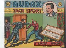 AUDAX première série n°53. BOB DAN. Ed. Artima 1952