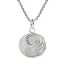 Cool & Mesmerizing Ball of Rings Knot Sterling Silver Necklace